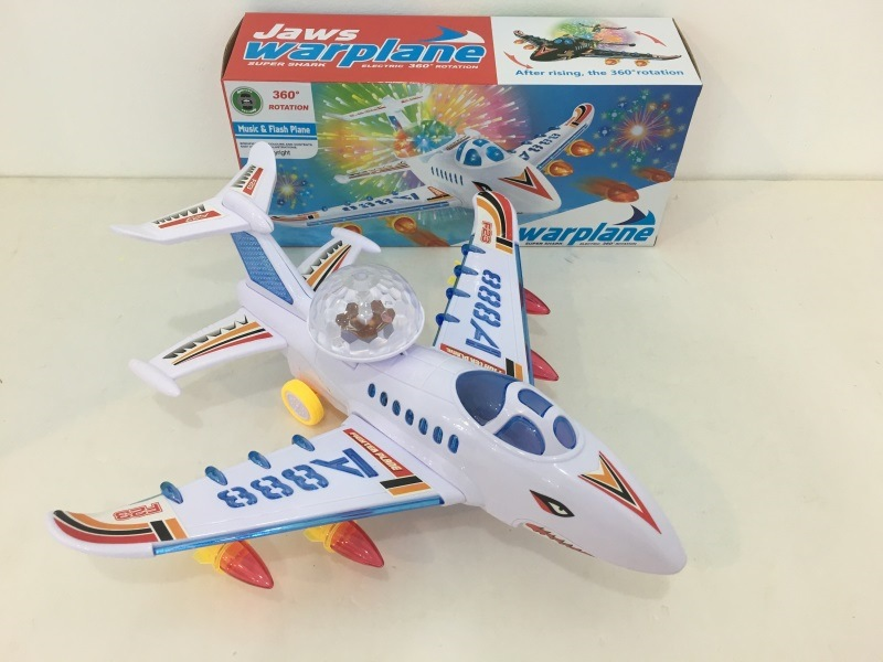 Electric Universal Airliner Light And Sound Aircraft Children'S Educational Model Plane Toy Stall Hot Selling
