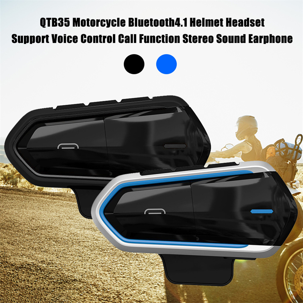 New QTB35 Waterproof Motorcycle Helmet Bluetooth Headset Wireless Handsfree Moto Headset Music helmets Call FM MP3 For Rider in Helmet Headsets from Automobiles Motorcycles
