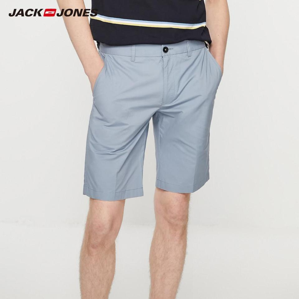 Isola di Alcatraz arabo Ideale  JackJones Men's Straight Fit Stretch Cotton Pure Color Knee high Shorts  Style| 219215514|Casual Shorts| - AliExpress