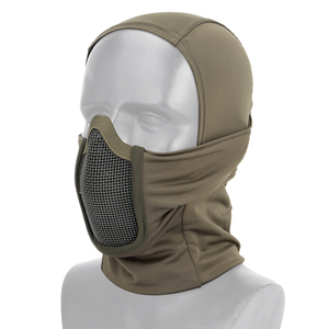 Image 4 - Tactical Full Face Mask Balaclava Cap Motorcycle Army Airsoft Paintball Headgear Metal Mesh Hunting Protective Mask