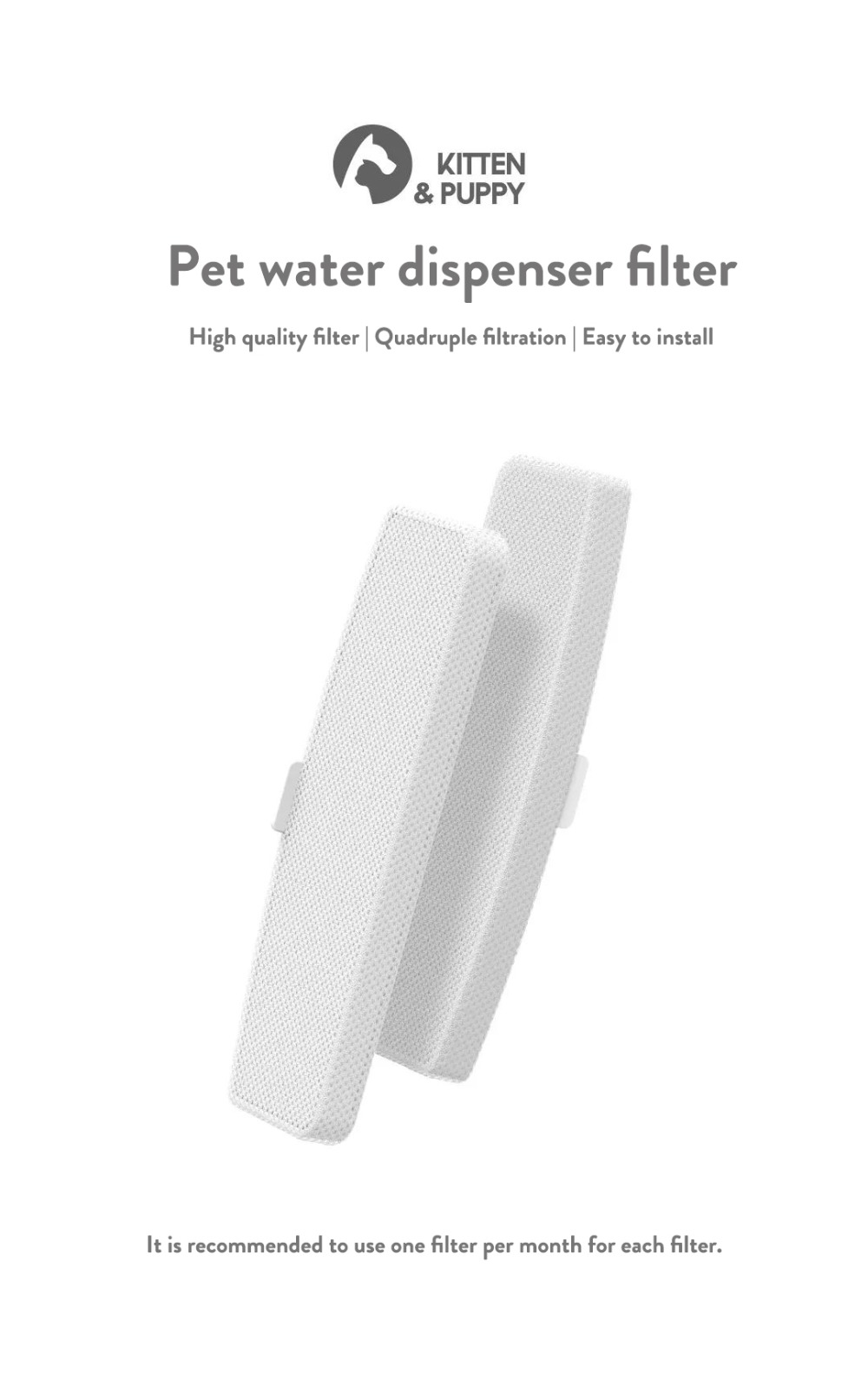 Xiaomi Kitten Puppy Pet Water Dispenser Replacement Filter  (1)