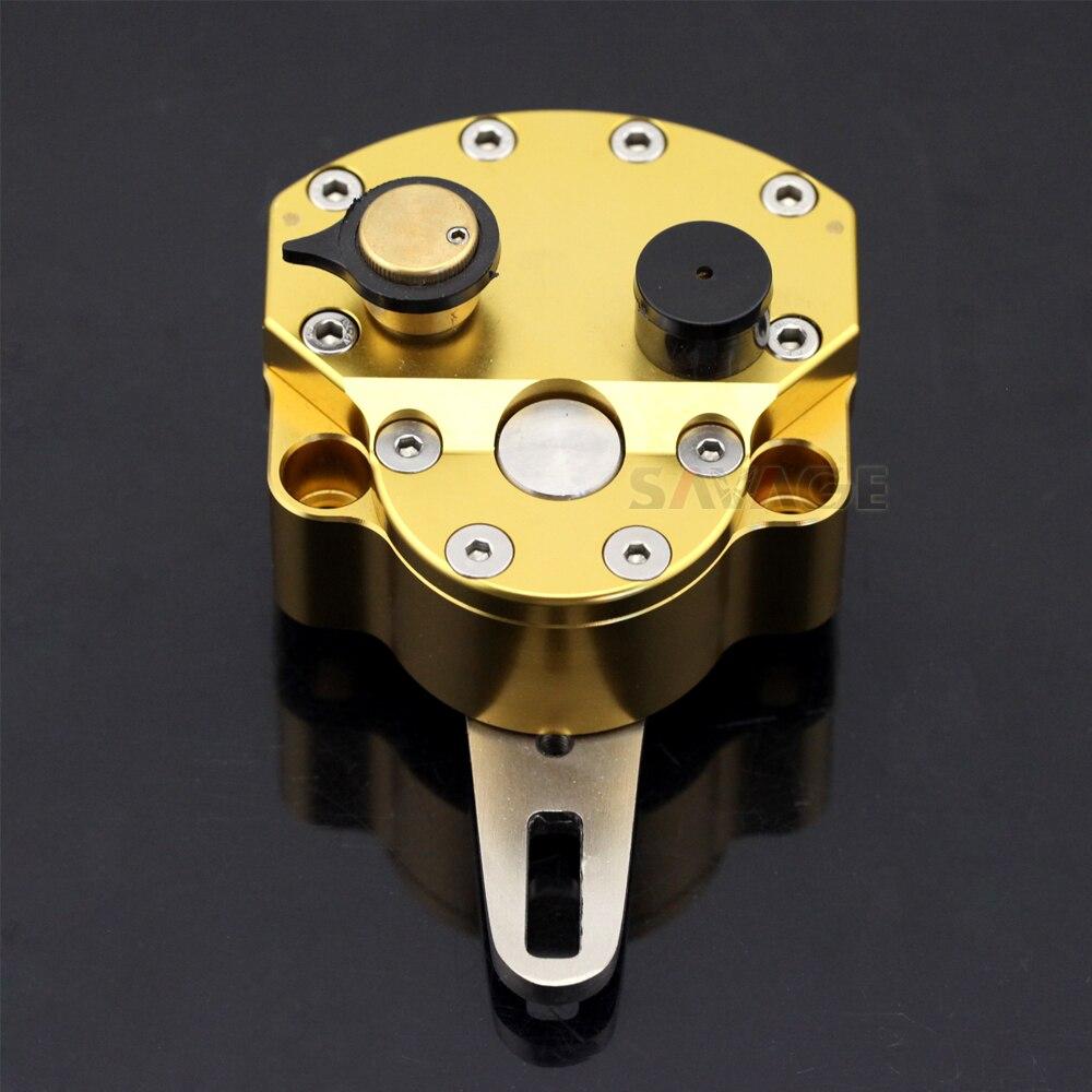 ステアリングダンパースタビライザーオートバイアクセサリーユニバーサル逆安全制御調節可能な