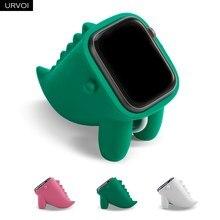 URVOI dinosaurier stehen für apple watch halter serie 6/5/4/3/2/1 watchos Nachttisch Keeper silikon home lade dock für iwatch