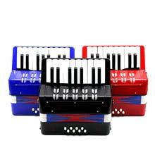 Дети 17-Key 8 бас мини маленький аккордеон Образовательный музыкальный инструмент Ритм Группа игрушка