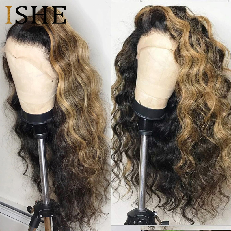 Honey Blonde 360 Lace Frontal Wig Ombre Curly Lace Front Human Hair Wigs Pre Plucked Full Lace Wig For Black Women Remy Hair