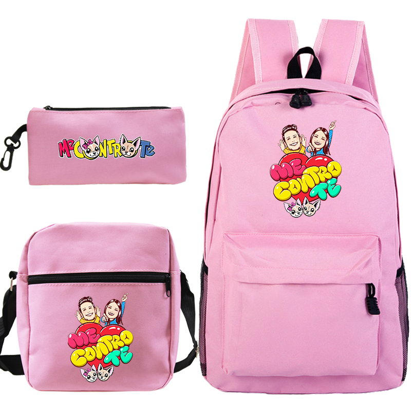 Me Contro Te 3 Pcs / Set Backpack School Bags for Girls Boys Laptop Travel Backpack Women Backpacks Shoulder Bags Pencil Bag