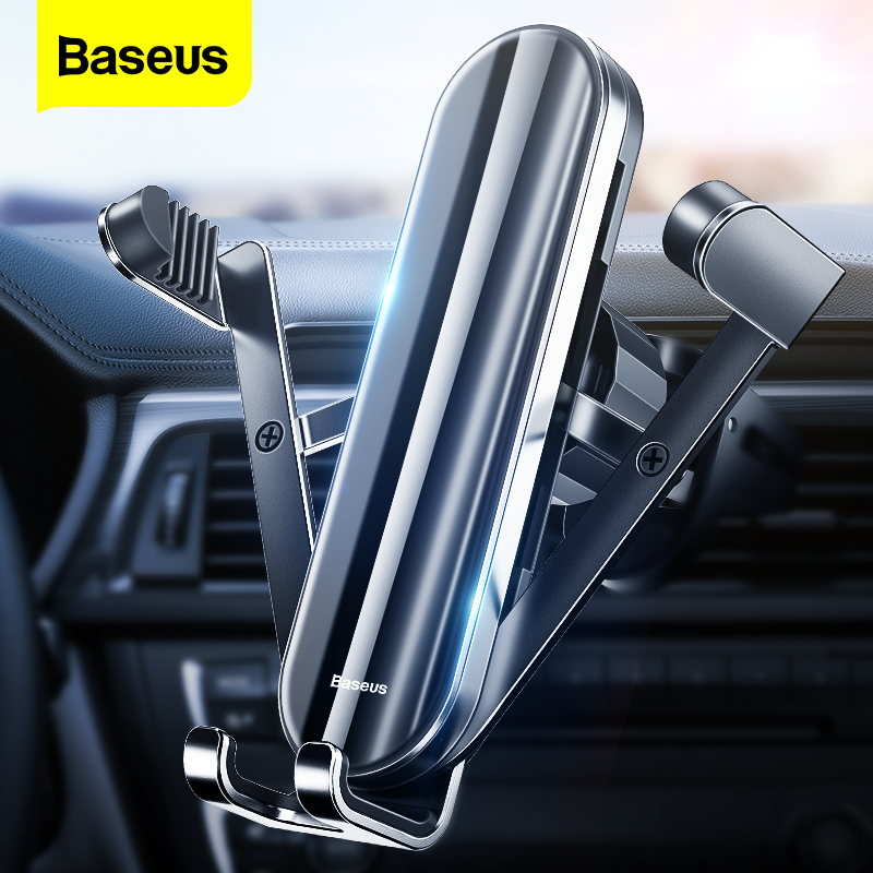 Baseus Gravity Car Phone Holder Mobile Phone Mount Stand For IPhone 11 Pro X Max Foldable Vertical Auto Phone Support For Xiaomi