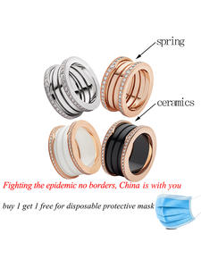 Rings Bulgaria Rose-Gold-Color Sterling-Silver Jewelry Crystal-Design Fashion with S925