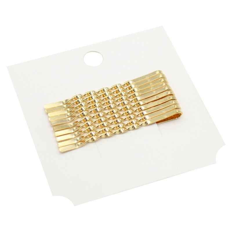 12 pçs/set Minimalista Liga de Metal Ouro do Bobby Pinos Mulheres Meninas Styling Hairpin Brilho Torção Espiral Grampo de cabelo Barrette Acessórios Para o Cabelo