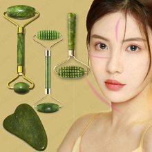 Guasha Gesicht Massager für Gesicht Jade Roller Massage Natürliche Gua Sha Schaber Schönheit Tools Gesichts Roller Jade Microniddle Massager