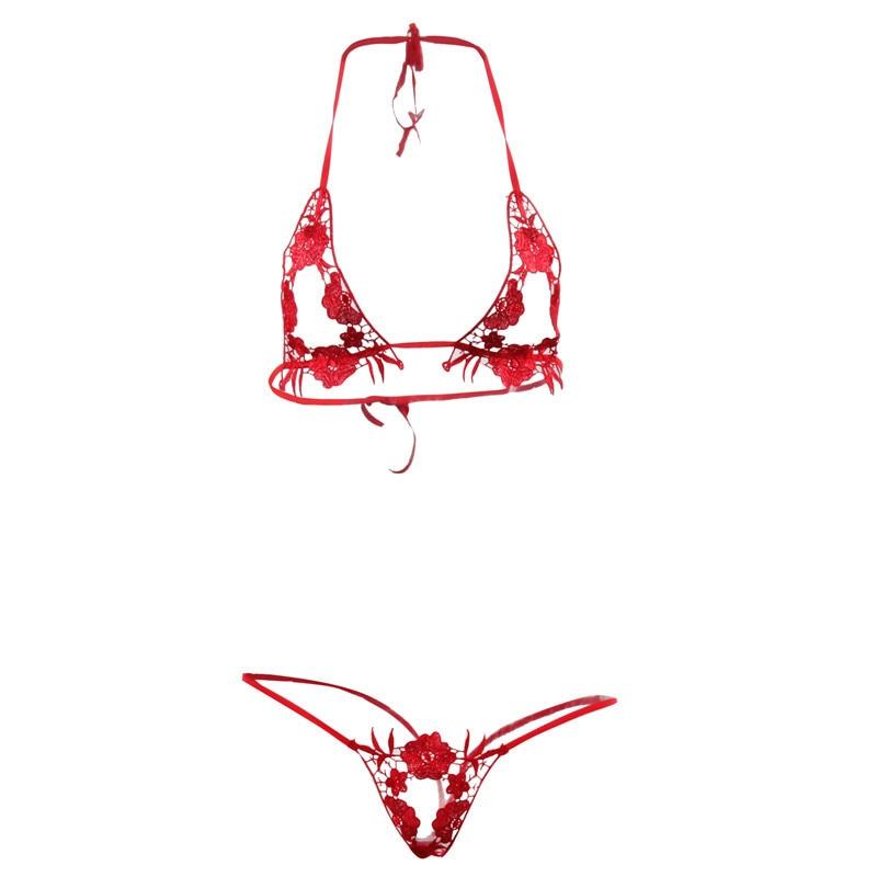 Three point bra body sexy costume lace transparent seduction thong women's interesting underwear erotic sex shop babydoll