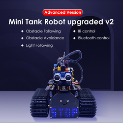 NEUE! keyestudio DIY Mini Tank Roboter V2.0 Smart Roboter auto kit für Arduino Roboter STAMM/Mixly blöcke codierung/Unterstützung IOS & Android APP
