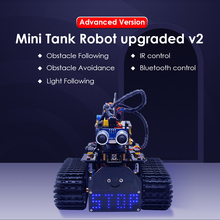 NEW!Keyestudio DIY Mini Tank Robot V2.0 Smart Robot car kit for Arduino Robot STEM /Mixly blocks coding/Support IOS &Android APP doit w3 smart robot car platform with omni universal wheel high hardness of steel for arduino diy