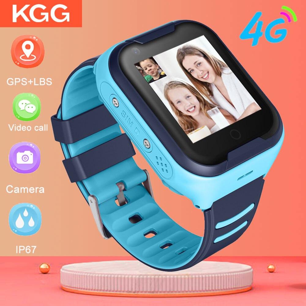 4G Smart Watch Kids Waterproof Wifi GPS Video Call Monitor Tracker Clock Students Wristwatch Kids Children