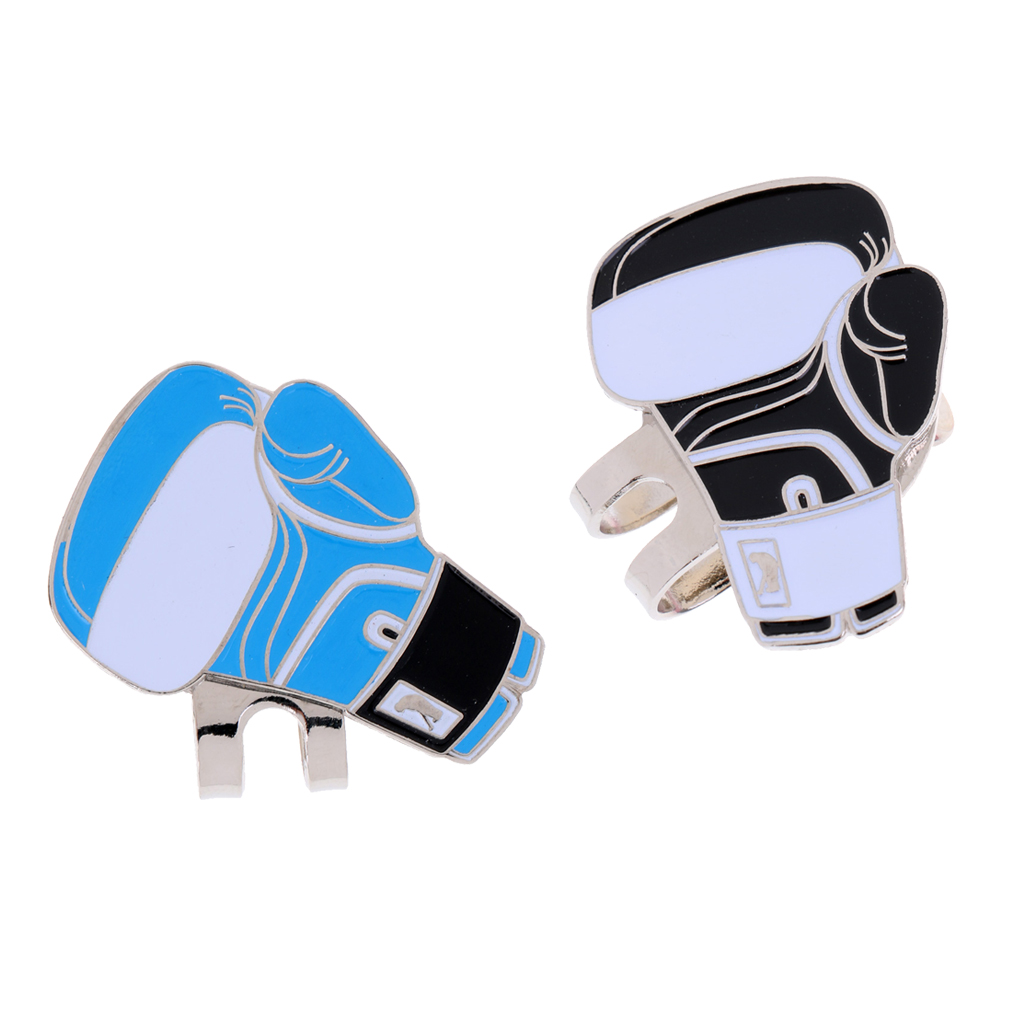 Sturdy Boxing Glove Magnetic Hat Clip Golf Ball Marker Fit For Golf Cap Visor