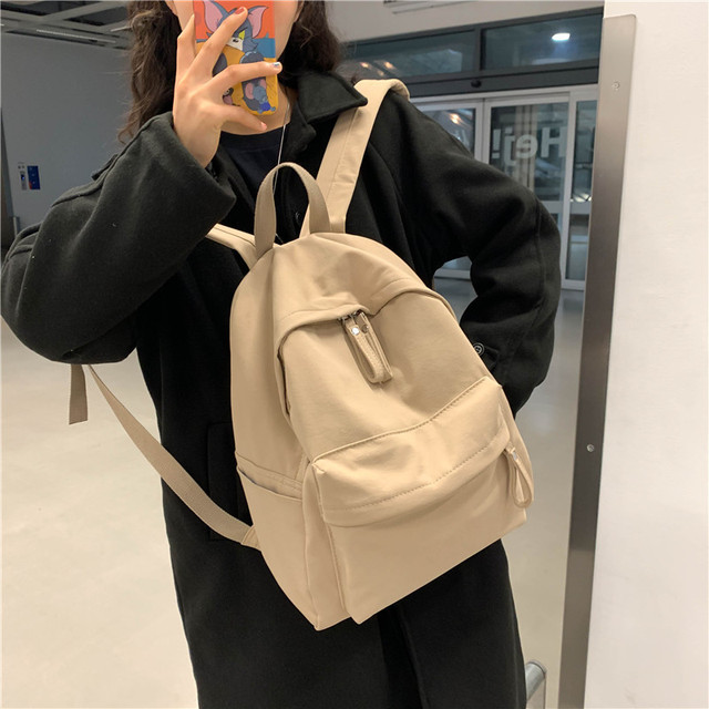 Anti-Theft Canvas Women Backpack