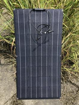 Etfe Solar Panel 100w 12v 3Pcs Solar Battery Charger Solar Module Flexible 300w 36v 220v 110v Caravan Car Camping Boat RV Marine