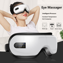Portable Electric Smart Airbag Vibration Bluetooth SPA Eye Massager Hot Compress Eyes Care Fatigue Therapy Massage Glasses