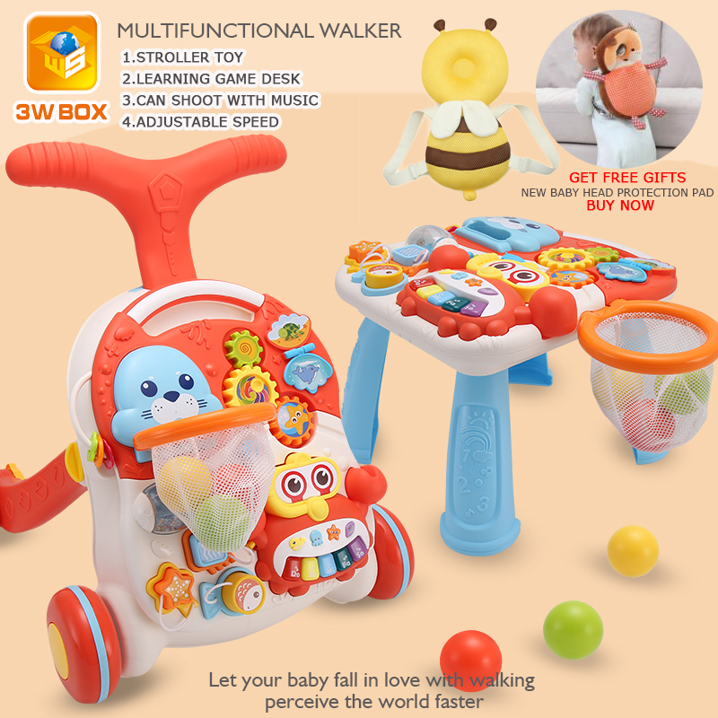 3WBOX stroller toy Multifunctional Game Table Baby Walker with wheel 6-24 Months Anti-rollover Toddler Walker toys for newborns