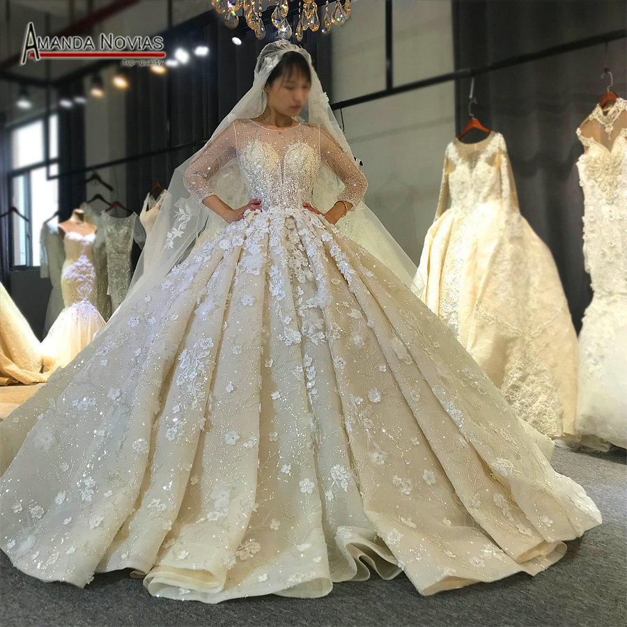 Wedding Dress 2020 New Design Real Work Bridal Dress 100 Real