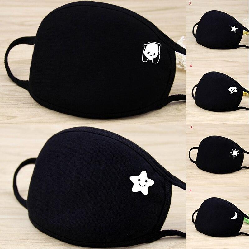 Japan Cartoon Cat Face Masks 2020 New Men Women Anti-bacterial Dust Masks Fashion Unisex Breathable Mouth Mask  Reusable