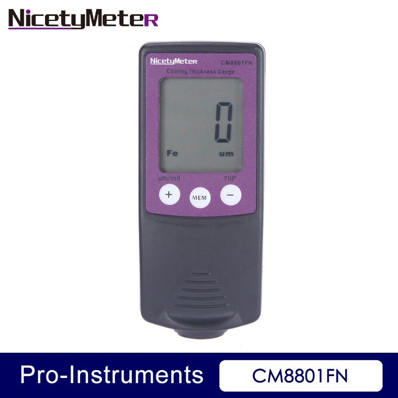 Nicety CM8801FN Fe és NFe 2 az 1-ben Az autó karosszéria festékmérőjének bevonat vastagságmérője Film vastagságmérő teszter festési vastagságmérője