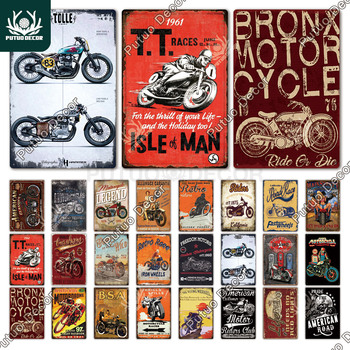 Motorcycle Tin Signs Retro Metal Sign Plaque Vintage Wall Decor for Garage Bar Pub Man Cave Decorative Plate Iron Painting - discount item  40% OFF Home Decor