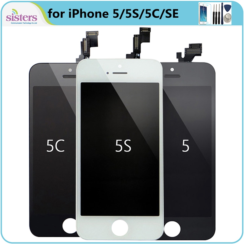 <font><b>Screen</b></font> for <font><b>iPhone</b></font> 5 <font><b>5S</b></font> 5C SE <font><b>LCD</b></font> <font><b>Screen</b></font> <font><b>LCD</b></font> Display For <font><b>iPhone</b></font> <font><b>5S</b></font> 5C Touch <font><b>Screen</b></font> Digitizer <font><b>Screen</b></font> Assembly Phone Replacement image