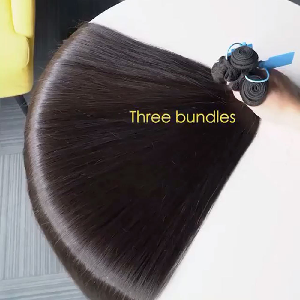 10~30 Inch Straight Human Hair Bundle 1/3/4 Bundles Deals Double Weft Brazilian Hair Weave Extensions