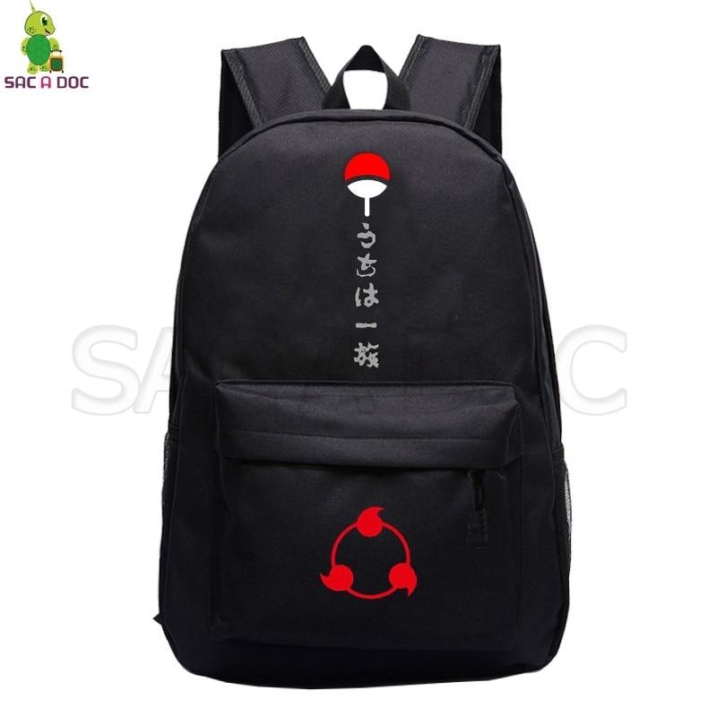 Naruto Uchiha Clan Sasuke Backpack School Bags For Teenage Girls Boys Sharingan Akatsuki Laptop Backpack Casual Travel Rucksack