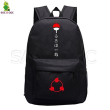 цены Naruto Uchiha Clan Sasuke Backpack School Bags for Teenage Girls Boys Sharingan Akatsuki Laptop Backpack Casual Travel Rucksack