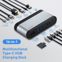 Baseus USB HUB C HUB Type C to Multi HDMI-compatible USB 3.0 with Power Adapter Docking Station for MacBook Pro Huawei Mate 30