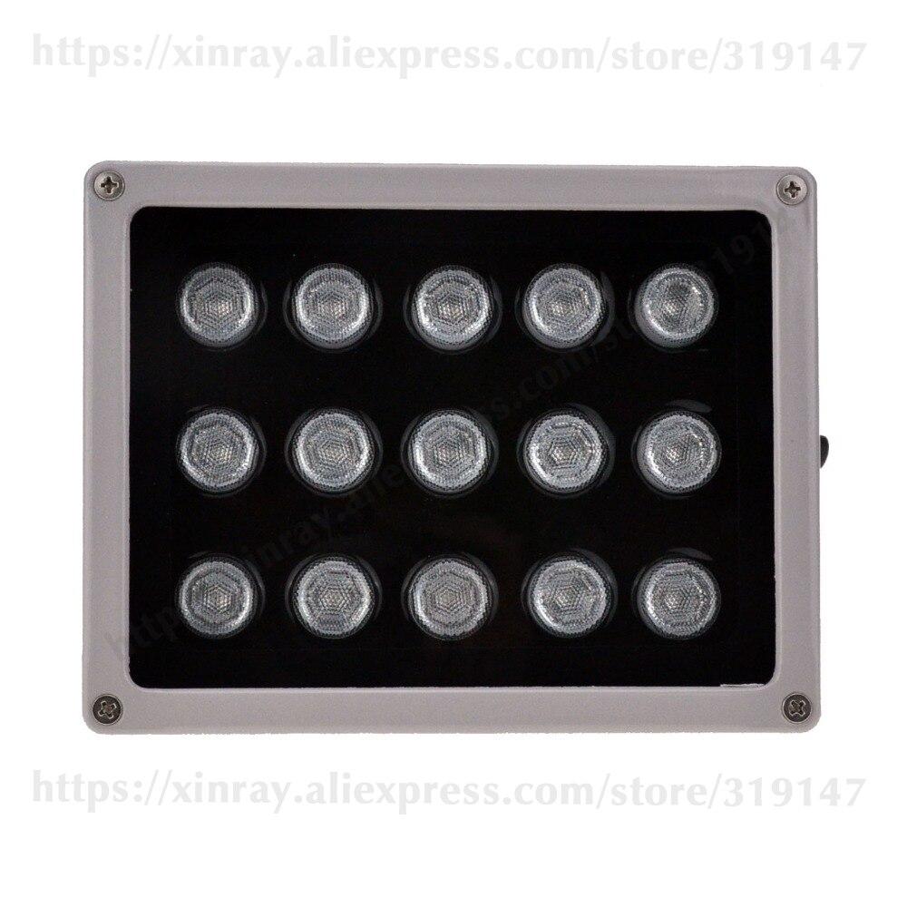 Lampe infrarouge auxiliaire d'illuminateur d'ir de rangée de télévision en circuit fermé 15 pièces rangée de LED IR extérieur IP65 imperméabilisent la Vision nocturne pour la caméra de télévision en circuit fermé.