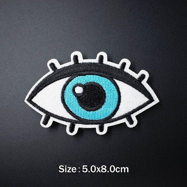 Bird Eye Mond Camera Patch Voor Kleding Ijzer Op Geborduurde Naaien Applique Leuke Naaien Op Stof Badge Diy Kleding Accessoires
