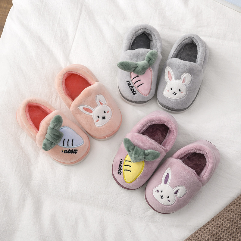 Children Cotton Shoes Kids Home Slippers Casual Boys Indoor Shoes Toddler Girls Cute Rabbit Slippers Kids Home Shoe Pantuflas
