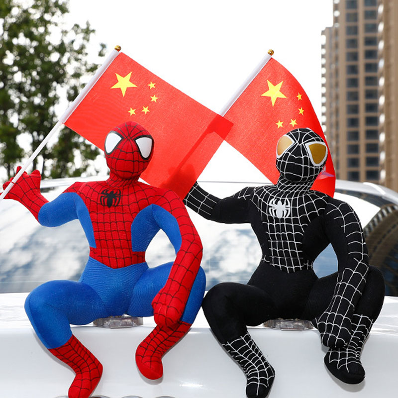 Spiderman  The Roof Doll  Plush Toys  A Doll On The Roof Of A Car Stuffed Animals  Plush