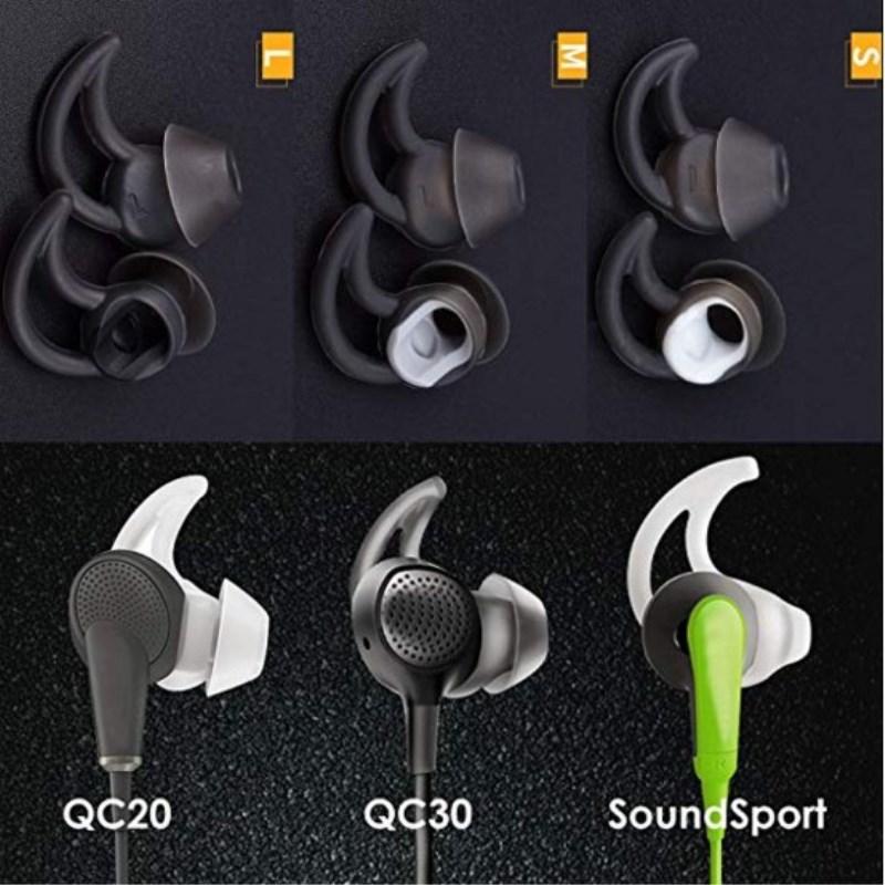 1 Pair Replacement Ear Gel Tips For Bose IE2 In-Ear Noise Canceling Headphones