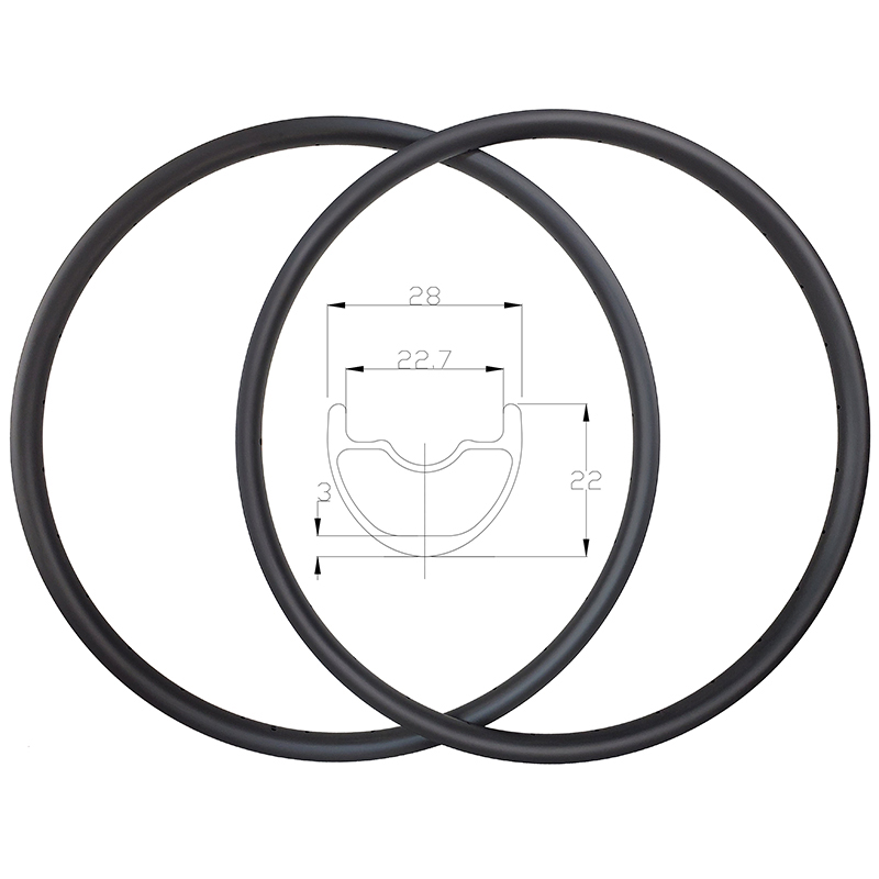 SUPER LIGHT 300g SPEEDSAFE 29er XC hookless Mountain Carbon Rims 28mm width 22mm depth MTB UD