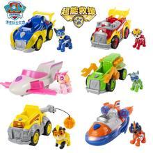 Genuíno pata patrulha poderoso filhotes super patas perseguição skye escombros marshall veículo de luxo com luzes e sons crianças brinquedo boneca