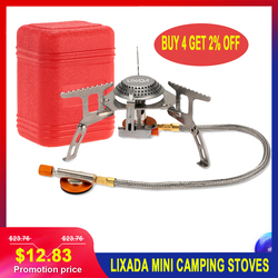 Складные напольные мини-печки LIXADA, портативная газовая печь для приготовления пищи, пикника, сплит-печки 3000 Вт, горелки 17*7 см