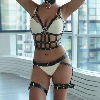 CKMORLS Leather Harness Bondage Women Lingerie Harajuku Garter Belt Erotic BDSM Bandage Sexy Body Chest