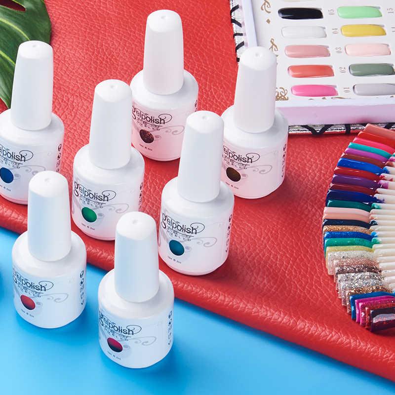 Tırnak jeli lehçe UV jel oje hibrid vernik yarı kalıcı tırnak seti manikür Gellak tırnak sanat profesyonel en astar