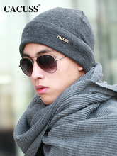 CACUSS wełniane wełniane czapki męskie kapelusze damskie zimowe czapki z dzianiny męskie kapelusze zimowe ciepłe przypływ czapki Baotou czapki zimowe tanie tanio CN (pochodzenie) COTTON Poliester Dla dorosłych Wool blend Elastic suitable for head circumference 56 -- 62cm Leisure