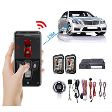 Car Anti Theft Alarm Two Way Remote Control By Mobile Phone Universal Autostart One Key Smart Engine Start Central Locking Door