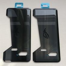 الأصلي والجديد 6.0 ل ASUS ROG الهاتف ZS600KL Z01QD ثلاثية الأبعاد الزجاج الخلفي غطاء البطارية الإسكان مع لاصق لاصق للهاتف ROG
