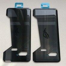 Orijinal yeni 6.0 için ASUS ROG telefon ZS600KL Z01QD 3D cam arka pil kapağı konut yapıştırıcı Sticker için ROG telefon