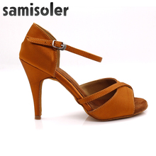 лучшая цена Samisoler 2019New Latin Dance Shoes For Women Tango Salsa Ballroom Dance High Heels soft Dancing Shoes