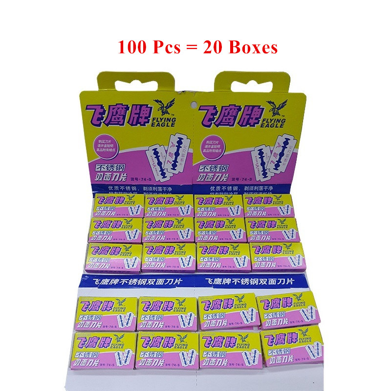 100Pcs Super Safety Razor Blades For Shaving Stainless Steel Sharp Hair Beard Cutting Razor Men Shaver Double Edge Blades
