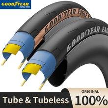 Goodyear Eagle F1 велосипедные шины бескамерные/тип трубы гоночные шоссейные велосипедные шины 700x2 5/28/32c шины для велоспорта анти-прокол 120 TPI складн...