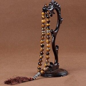 Image 3 - Tesbih 이슬람기도 구슬 Tasbih 이슬람기도 구슬 묵주 매력 보석 100% 원래 천연 마노 스톤 팔찌
